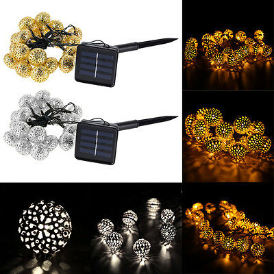 Solar Powered Garden Outdoor Patio String Lights-Multiple Options Available
