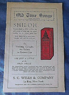 Old Time Songs Shiloh Cough Syrup, Dr. Fenner's Golden Relief patent medicine