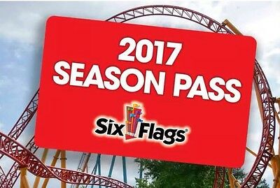 2017 SIX FLAGS SEASON PASS!  Includes Water park AND Safari!