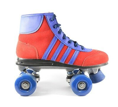 Retro Roller Skates From Office, Blue & Red, UK Size 5