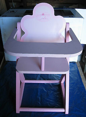 Toy Wooden Dolls Low Chair in Pink (ref 3852)