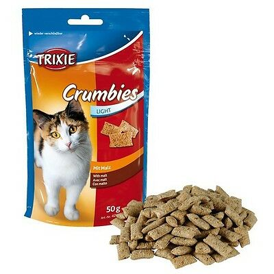 Trixie CRUMBIES with Malt 50 g, Cat Treats, NEW