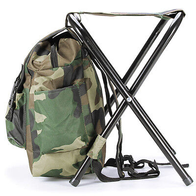 Foldable Fishing Chair Stool Travel Camping Multi-Function Backpack Bag B L G