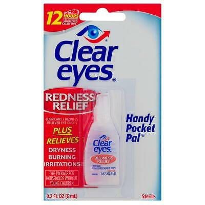 12 Pack Of Clear Eyes Drops Redness Relief 0.2 Oz 6 Ml Exp 09/2018 Free Shipping