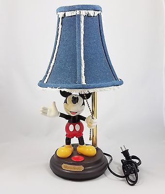 Vintage Disney Mickey Mouse Talking Animated Lamp Non-Working For Parts Repair
