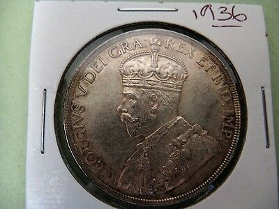 Very Nice 1936 King George V Canadian Silver Dollar - AU or better