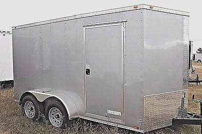 6X12 Enclosed Trailer Cargo Tandem V Nose Utility Motorcycle 14 10 Lawn IN STOCK