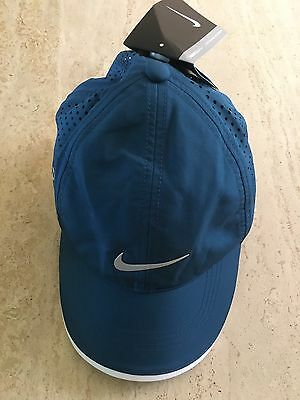 Unisex Adjustable Teal Blue Golf Cap By Nike