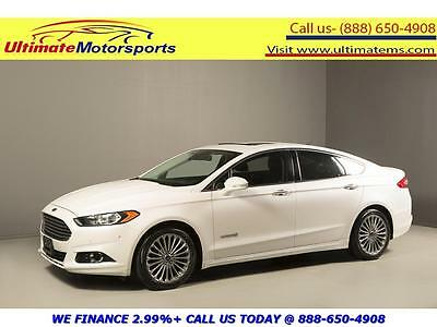 2013 Ford Fusion 2013 TITANIUM NAVIGATION HYBRID SUNROOF LEATHER 2013 FORD FUSION HYBRID TITANIUM NAV SUNROOF LEATHER BLIND LANE WHITE WARRANTY