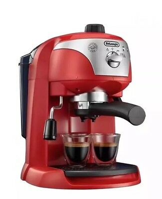 Delonghi ECC220.R Traditional Pump Espresso Coffee Machine Red