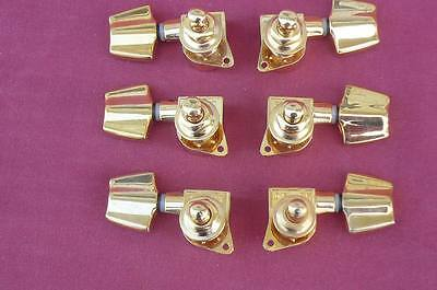 6 IBANEZ ARTIST TUNING KEYS DIE CAST GOLD Smooth Tuner 3 + 3 Great Vintage Look