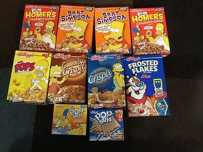 Lot of Simpsons Kellogg's Cereal From 2001 - Super Rare