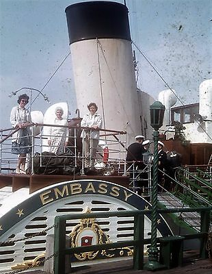 Photographic Glass Slide  Paddle Steamer Embassy At Yarmouth Iow 1961 Scrapped!