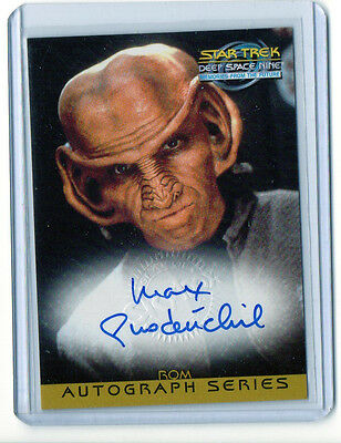 """Max Grodenchik """"Rom"""" Star Trek DS9 Auto Signed Card Nm-Mt Condition"""