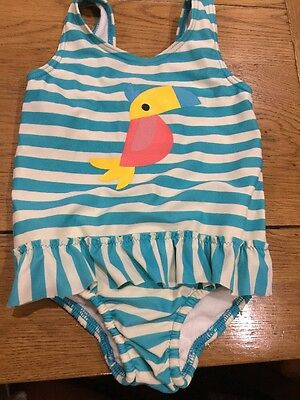 Very Cute Baby Girls Swimming Costume Age 12-18 Months Ex Con M & S