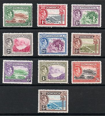 DOMINICA GVI 1938 Culture definitives sg99-108 * MINT to 5/- * cv£53