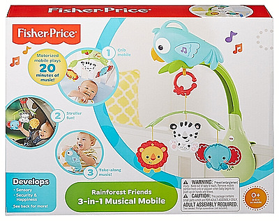 Fisher Price Rainforest Friends 3-in-1 Musical Mobile brand new in box £17.99