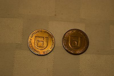 Lot Of 2 Vintage Parking Tokens, Downtown Tacoma Association