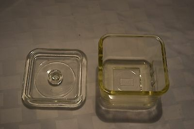Vintage Glassbake Clear Glass Container With Lid
