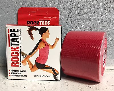 """ROCKTAPE Rock Tape RED 2""""Therapeutic Kinesiology Sports Injuries Rehab Medical"""