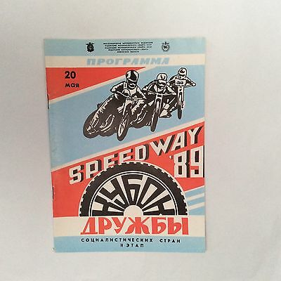 Rovno (USSR) Speedway Programme, 20 May 1989