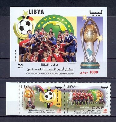 Libya 2014 - Minisheet+Strip of 2 stamps - African Nations Championship - MNH**