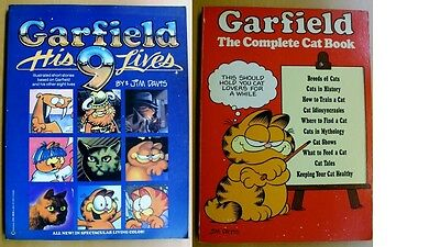 Jim Davis GARFIELD – His 9 Lives  + The Complete Cat Book, 1st Editions