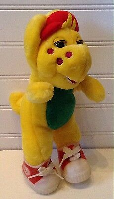 "Barney & Friends 10"" Plush BJ Yellow Dinosaur Stuffed Animal In Shoes"