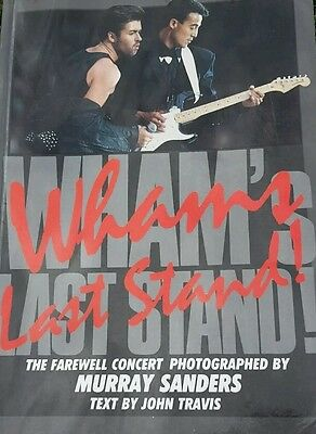 """George Michael / WHAM """"The Last Stand"""" Book original 1986 Of The Final"""
