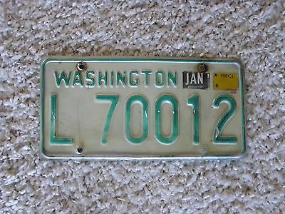 "Vintage State of Washington License Plate ""L 70012"""