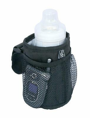 Pushchair Stroller Baby Child Bottle Cup Drink Holder With Pockets Black New