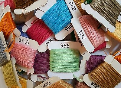 20 x DMC Threads in Bobbins *RANDOM COLOURS*