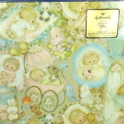 NIP Vintage Hallmark Mary Hamilton Baby Gift Wrap Wrapping Paper Boy or Girl