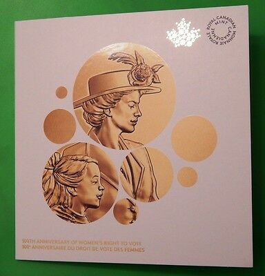 New 2016 Canada Official Collector Card with Women's Vote 1 Dollar