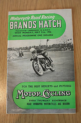 Brands Hatch Motor Racing Cycle Road Race Programme 21st may 1956