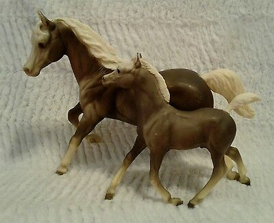 RARE Breyer Vintage 1960s Running Mare and Foal Sugar & Spice Smoke/Gray BODIES