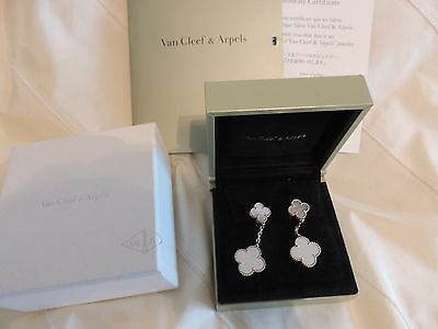 Van Cleef & Arpels Magic Alhambra MOP Earrings (2% DISCOUNT for non-Paypal User)