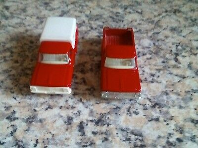 Matchbox lesney x2 Ford pick up truck one with white grill