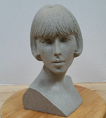 Vintage Retro 80s MANNEQUIN DISPLAY HEAD! Bob Haircut Hairstyle jewelry hat