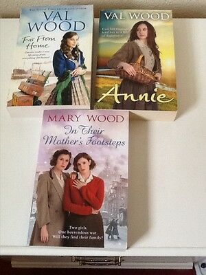 Paperback Books (3) 2 By Val Wood 1 By Mary Wood