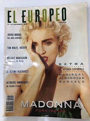 Madonna Magazine Spanish No Promo Rebel Heart El Europeo 1989
