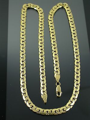 VINTAGE 18ct GOLD FLAT C LINK NECKLACE CHAIN 21 inch C.1980