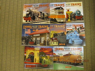 Lionel Corporation Tinplate Catalogs from 2009 to 2016 by MTH