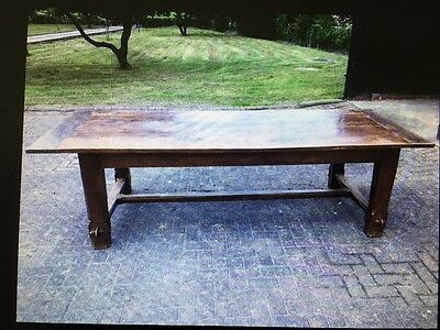 large oak refectory antique style dining / farmhouse kitchen table