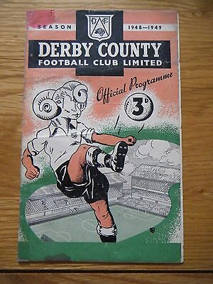 1948 / 1949 DERBY COUNTY v CHELSEA FOOTBALL PROGRAMME