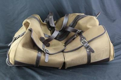 Authentic Polo Ralph Lauren XL Canvas Leather Duffel Duffle Bag Luggage w/Wheels