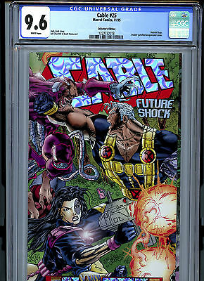 Cable #25 (1995) Marvel CGC 9.6 White Collector's Edition Holofoil Logo