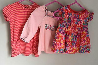 Ted Baker Baby Girls Top x 3 Bundle 6-9 Months Pinks