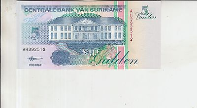 Suriname 5 Gulden 1998 Uncirculated Banknote