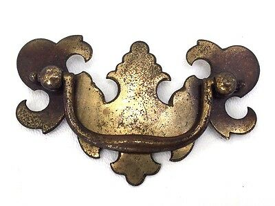 """Chippendale Brass Vintage Antique Hardware Batwing Drawer Pulls..2 1/2"""" centers"""